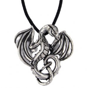 Winged Dragon Pewter Pendant